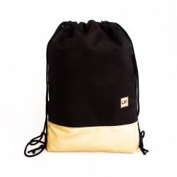 Plecak worek - czarno-złoty