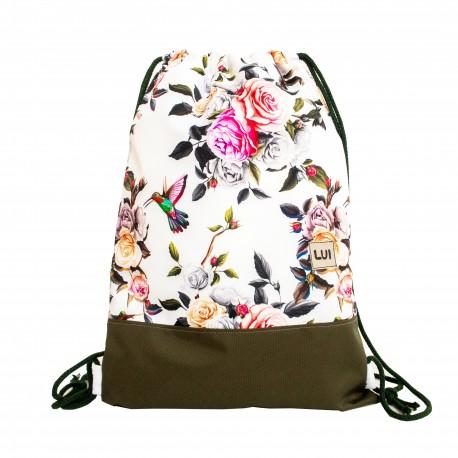 Plecak worek - kolibry na różach