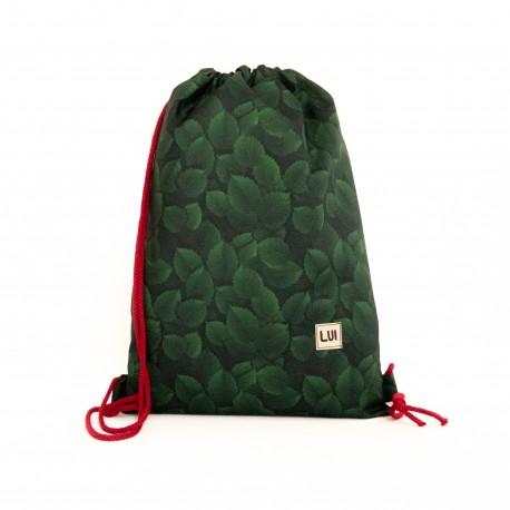 Plecak worek - zielone liście